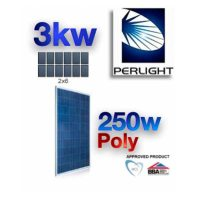 3 KW Perlight PV Photovoltaic Solar Panel Complete Kit