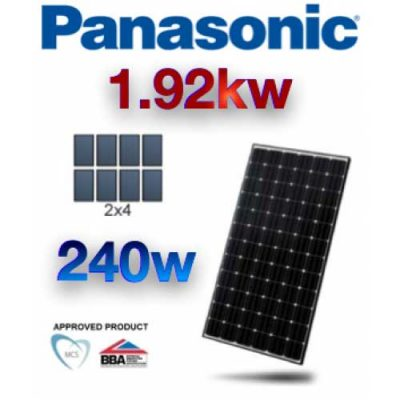 1.92 KW Panasonic PV Photovoltaic Solar Panel Complete Kit