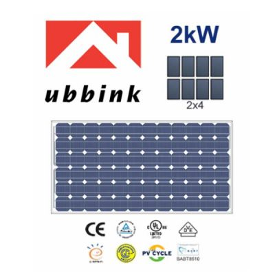 2 KW Perlight PV Photovoltaic Solar Panel Complete Kit